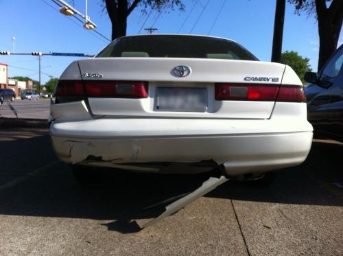 back car damage