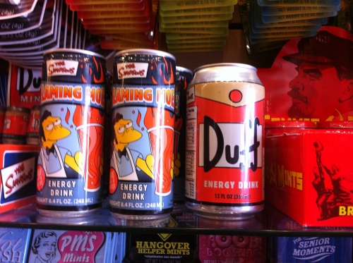 I think they're energy drinks, but yeah some Simpsons energy drinks!