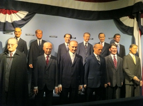 president wax dolls