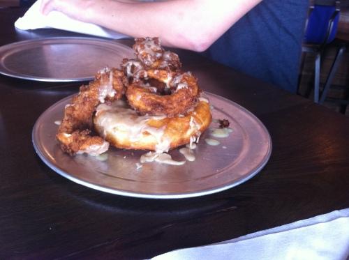 chicken&waffle donut