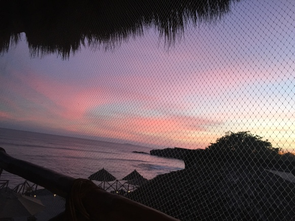 dinner view sunset colors beautiful