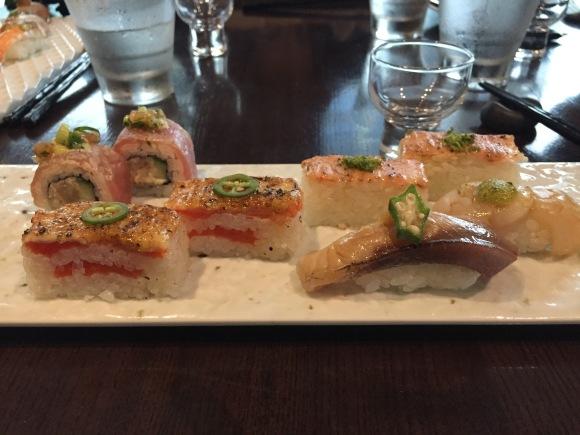 oshi sushi, sushi, miku, vancouver, canada, delicious, food, amazing, pressed sushi