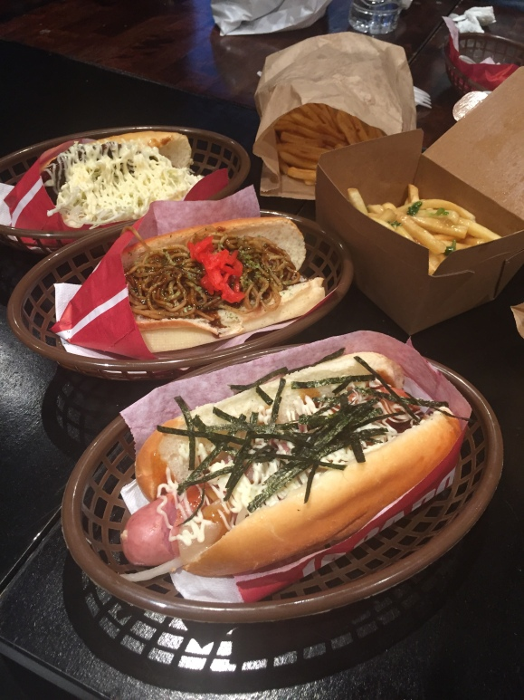 poutine, fries, shaken fries, japadog, japanese hotdogs, yakisoba, hot dogs, food, vancouver, canada